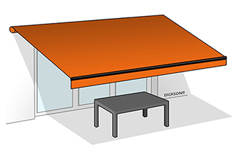 Folding-arm awning - terrace
