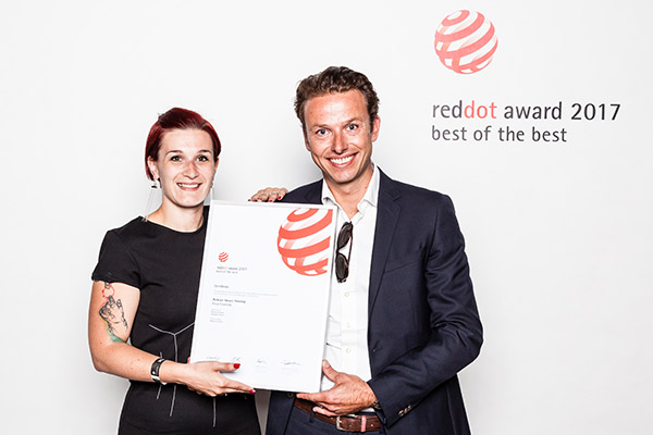 "Dickson® wins ""Best of the Best"" Red Dot Award for the innovative design of its new collection of woven vinyls"