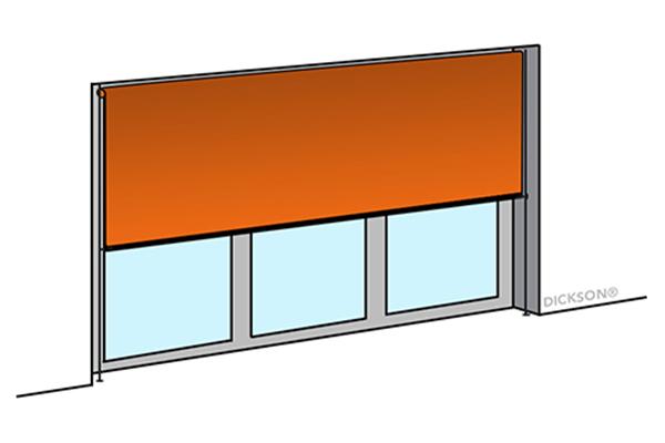 Outdoor vertical blinds