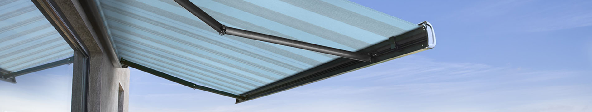 An Orchestra fabric for folding-arm awnings