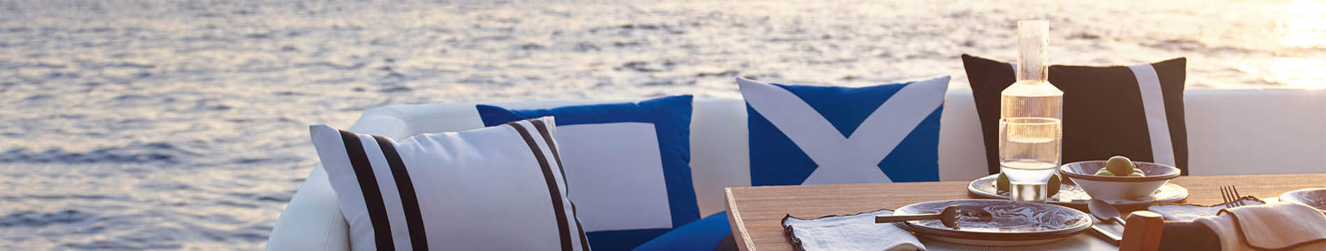 Sunbrella marine fabrics perfect the look of your boat