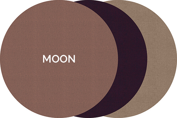 Dickson Moon woven vinyl rug from the Iconic range