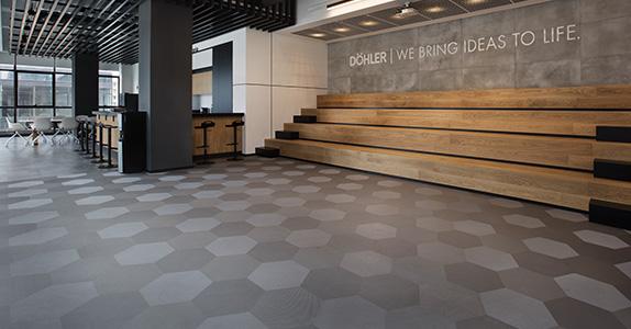 Le siège social de Döhler a installé du revêtement de sol Dickson