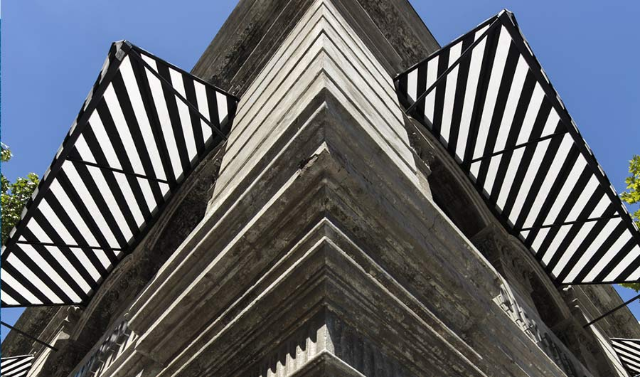 Nielson - An unusual use of stripes and maximum architectural impact