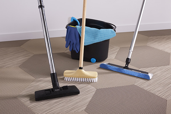 A unique composition for extremely durable, easy to maintain flooring