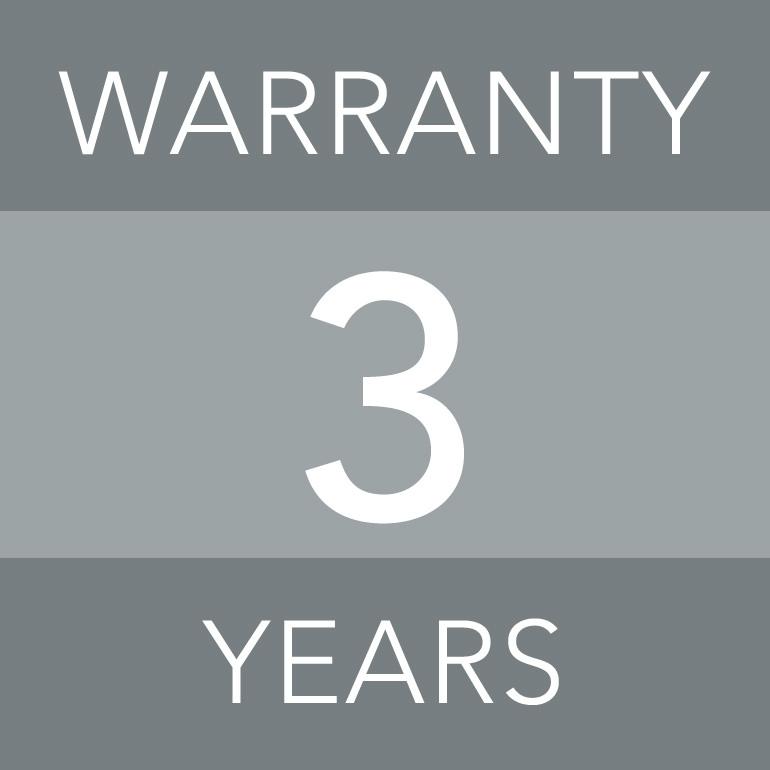 3-year guarantee