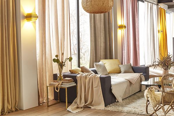 tissus pour rideaux et voilages