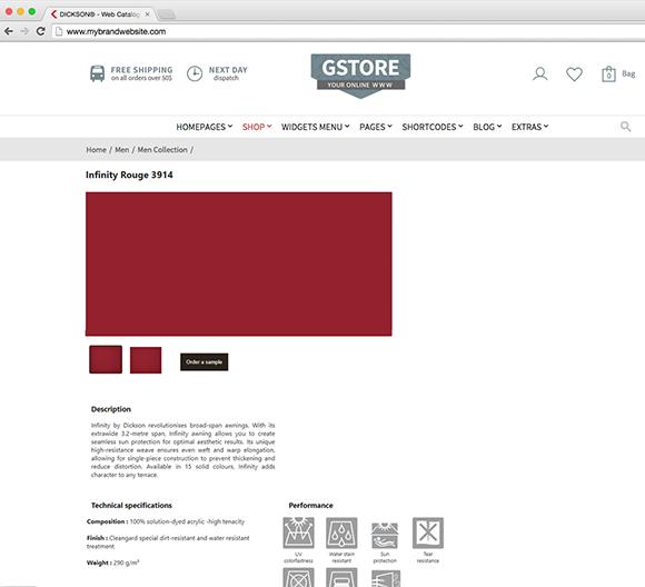 Widget catalog : Funcionalidades