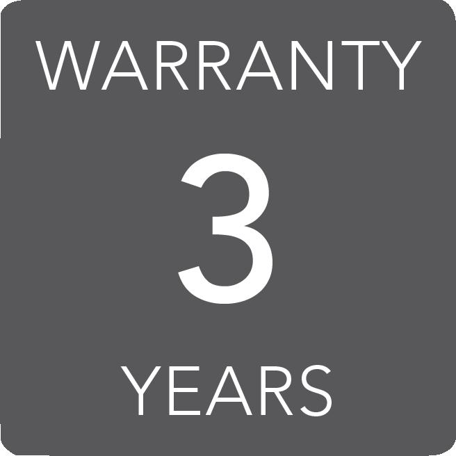 3 years warranty