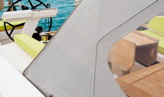 les textiles dédiés à l'aménagement et à la protection du bateau
