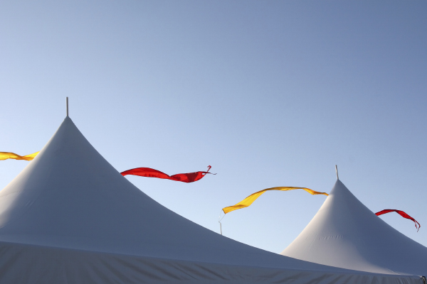 Recommended fabrics for your marquee