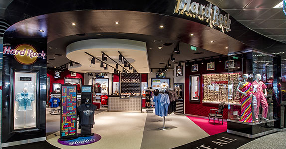 Hard Rock, butik – Ungern