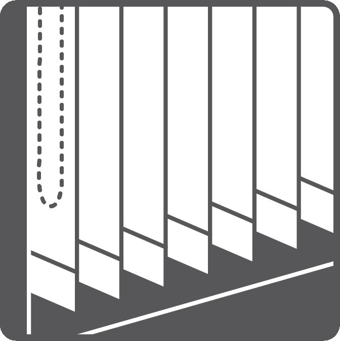 Vertical strips