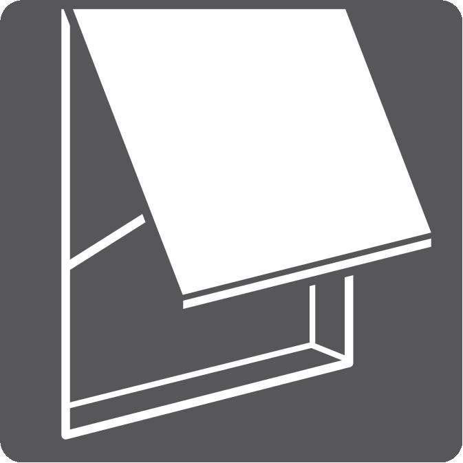 Drop-arm awnings