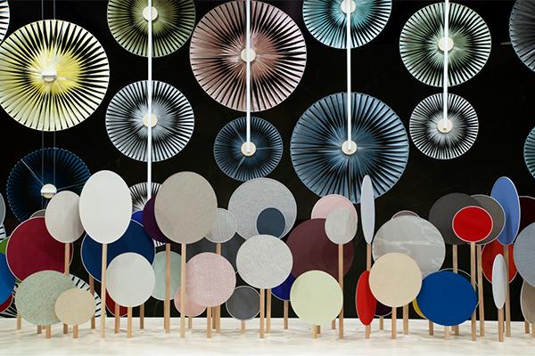 "Installation ""Fleurs du vent"", Stand Sunbrella au salon du Meuble de Milan, 2019"