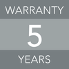 5 years warranty image