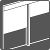 Vertical roll-down awning image