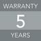 5 years warranty image