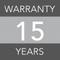 15 years warranty image